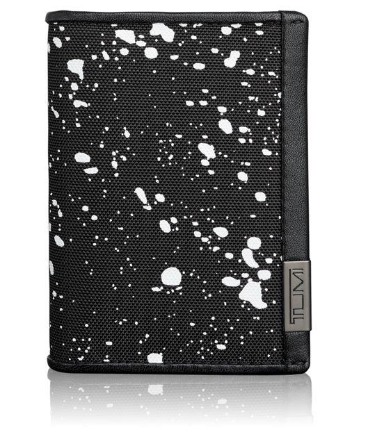 TUMI ID Lock™ Gusseted Card Case in Galaxy Print