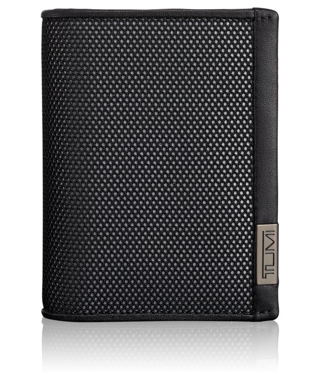 TUMI ID Lock™ Gusseted Card Case with ID in Reflective Silver