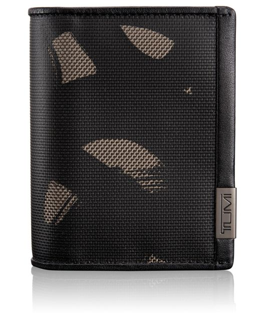 TUMI ID Lock™ Gusseted Card Case in Smoke Character