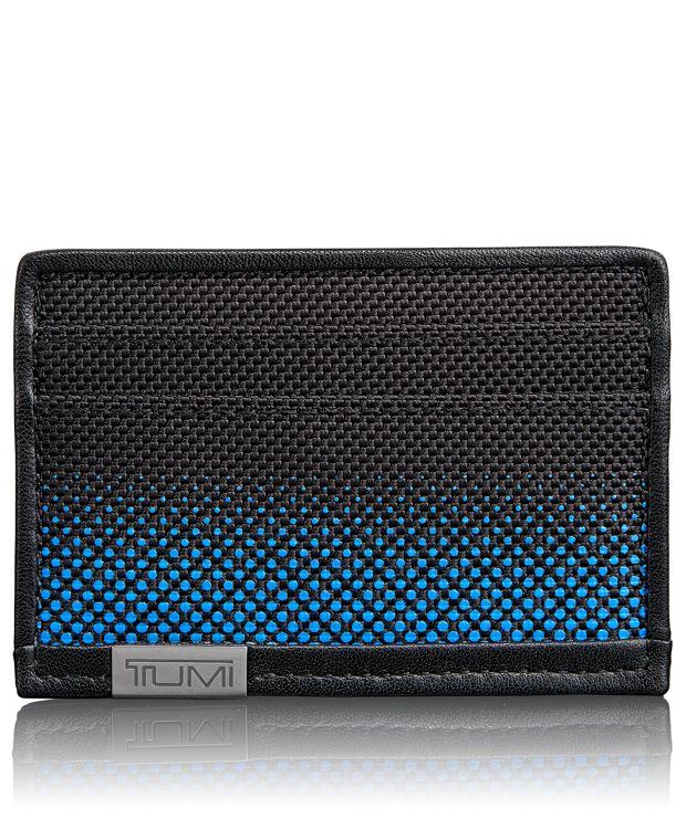 TUMI ID Lock™ Slim Card Case in Blue Dot Ombre
