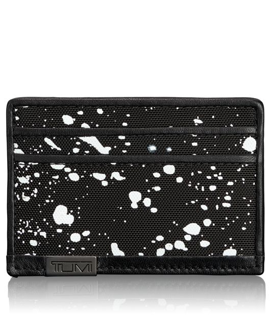 TUMI ID Lock™ Slim Card Case in Galaxy Print