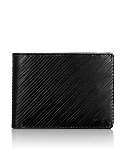 TUMI ID Lock™ Double Billfold in Black Embossed
