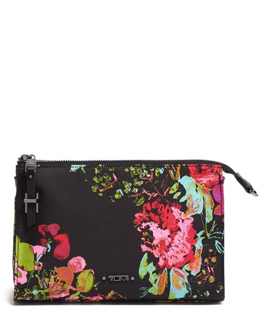 Basel Small Triangle Pouch in Collage Floral