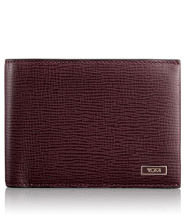 TUMI ID Lock™ Double Billfold in Merlot