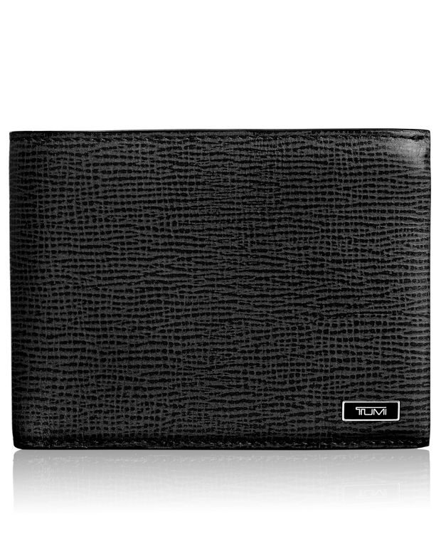TUMI ID Lock™ Global Center Flip Passcase in Black