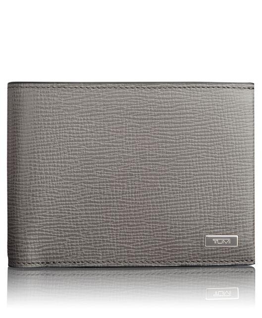 TUMI ID Lock™ Global Double Billfold in Grey