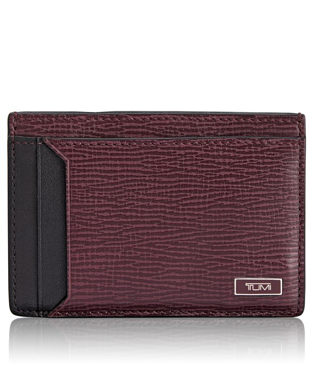 TUMI ID Lock™ Money Clip Card Case in Merlot