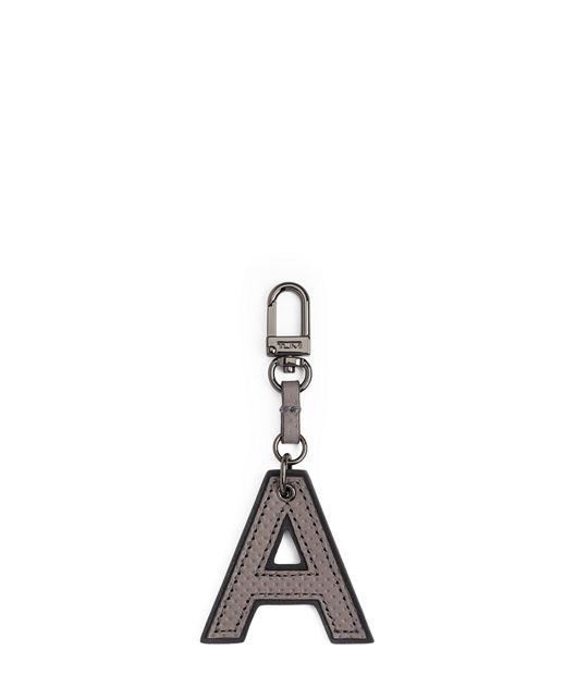 Letter Charm in A/Grey Perforated