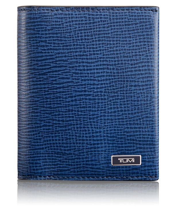 TUMI ID Lock™ Gusseted Card Case in Cobalt