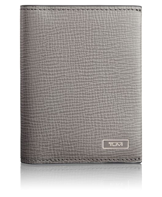 TUMI ID Lock™ Gusseted Card Case with ID in Grey