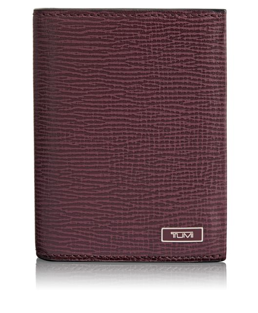 TUMI ID Lock™ Gusseted Card Case with ID in Merlot