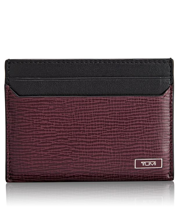 TUMI ID Lock™ Slim Card Case in Merlot