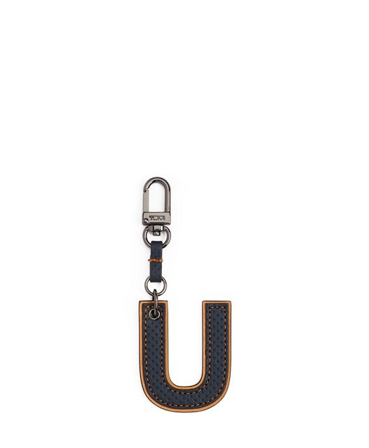 Letter Charm in U/Navy Perforated