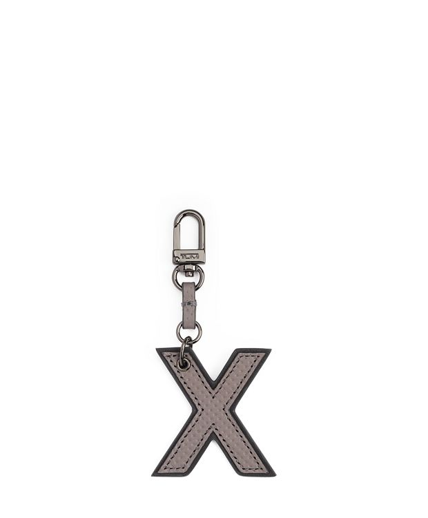 Letter Charm in X/Grey Perforated