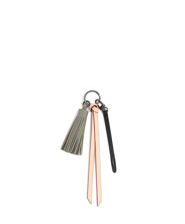 Tassel Charm in Elephant Grey