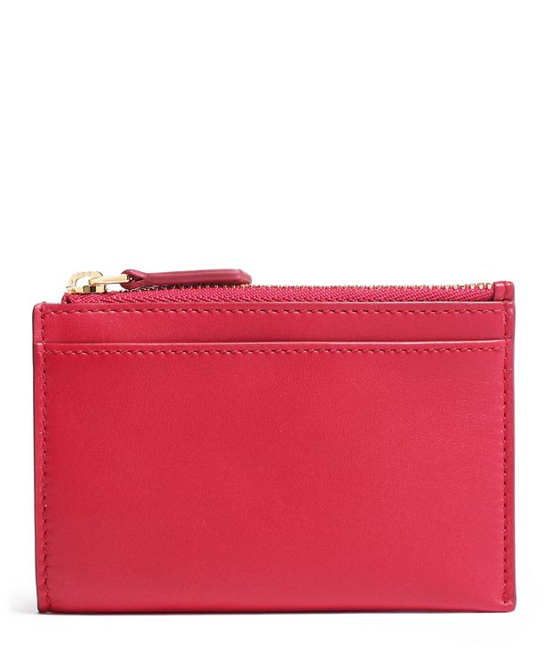 Zip Card Case in Pink
