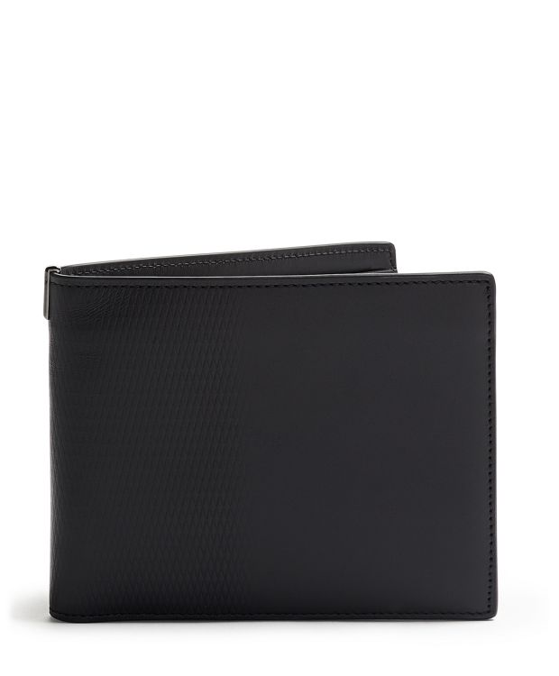 Global Double Billfold in Black Embossed