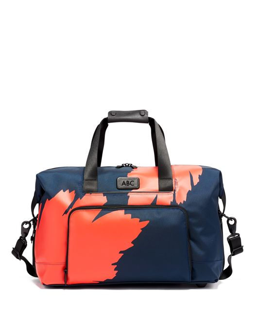 Double Expansion Travel Satchel in Graphic Congo Print