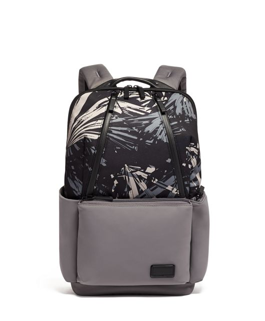 Lakeview Backpack in Blue  Palm  Print