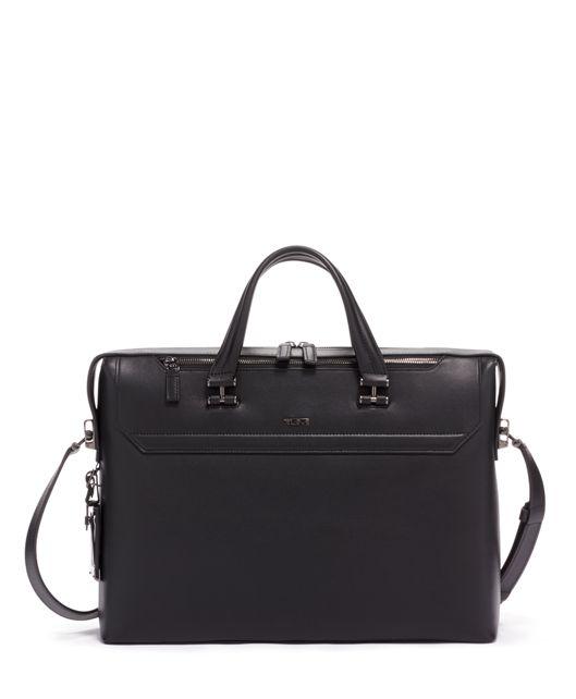 Gavin Slim Brief Leather in Black Leather