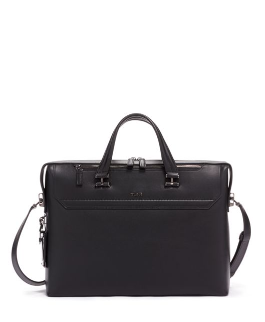 Gavin Slim Brief Leather in Black Leather
