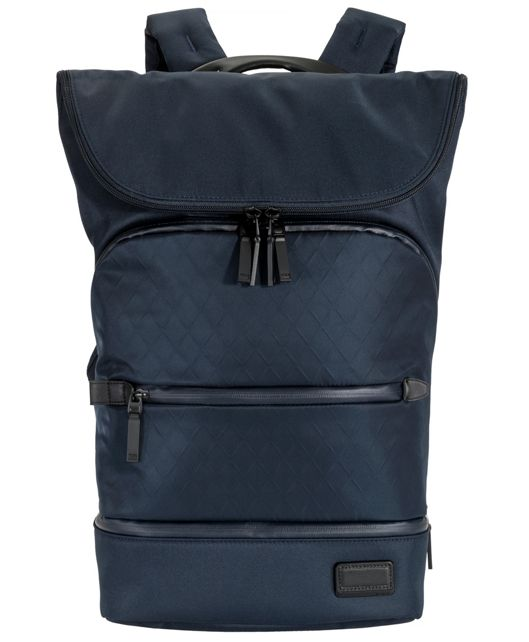 Forest Flap Backpack in Navy Tech