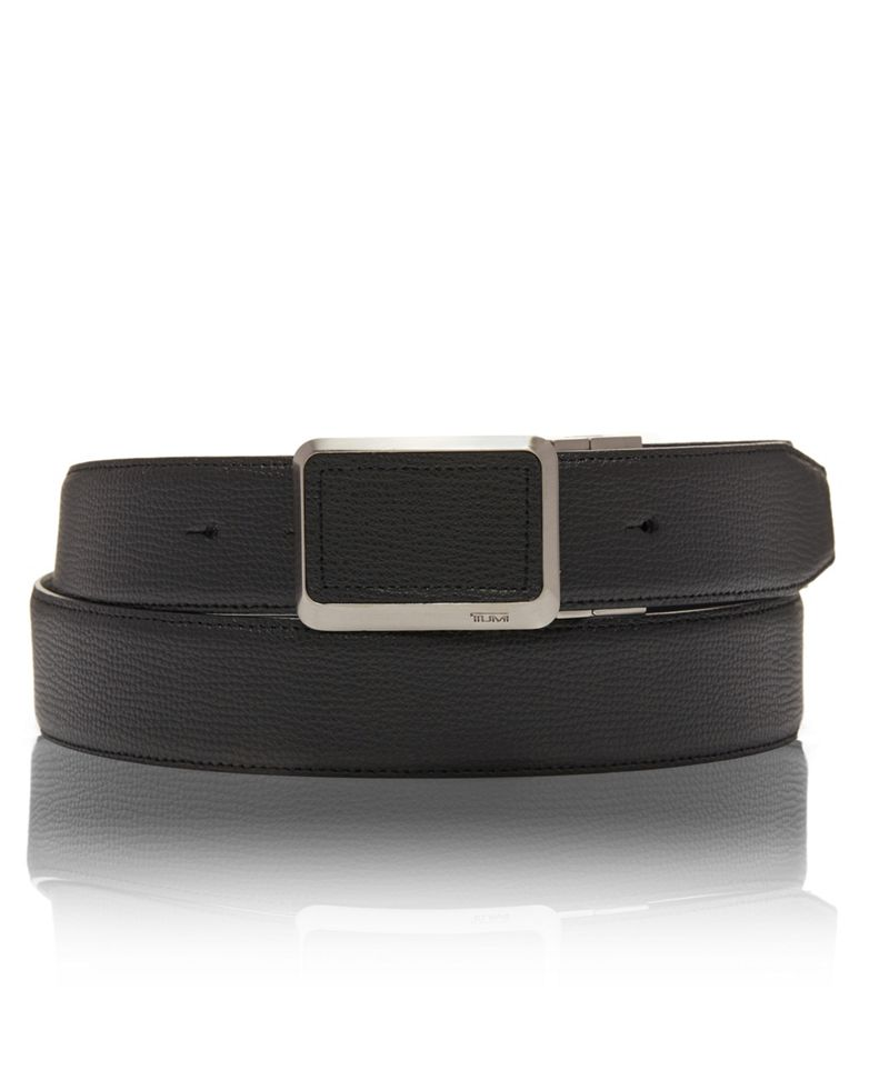 Leather Buckle Inlay Belt OS