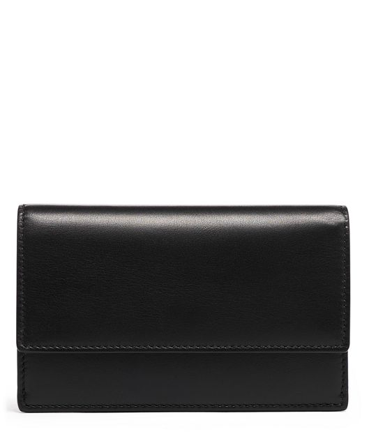 SM SLIM ENVELOPE WALLET Black - large | Tumi Thailand