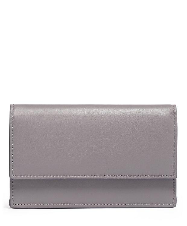 Small Slim Envelope Wallet in Grey