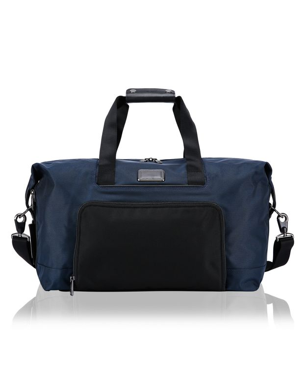 Double Expansion Travel Satchel in Navy