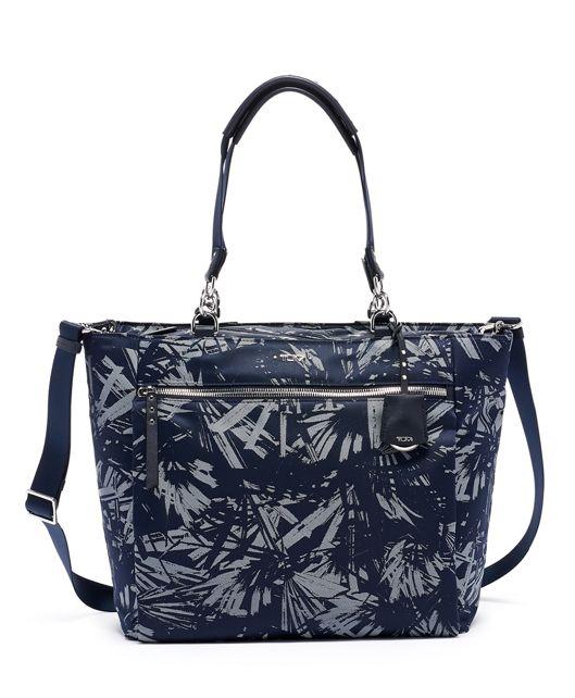 Torun Tote in Blue Palm Print