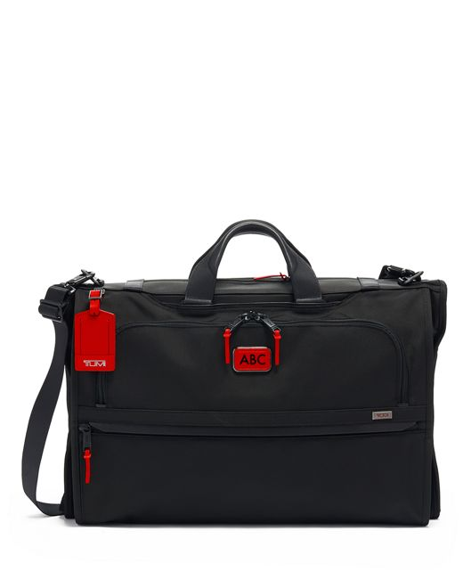 Garment Bag Tri-Fold Carry-On in Cherry