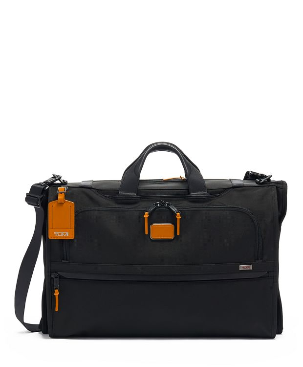 Garment Bag Tri-Fold Carry-On in Tan