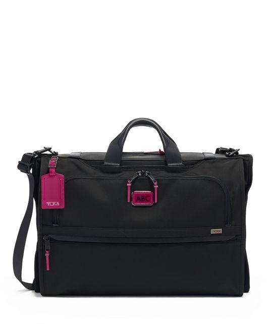 Garment Bag Tri-Fold Carry-On in Metallic Pink