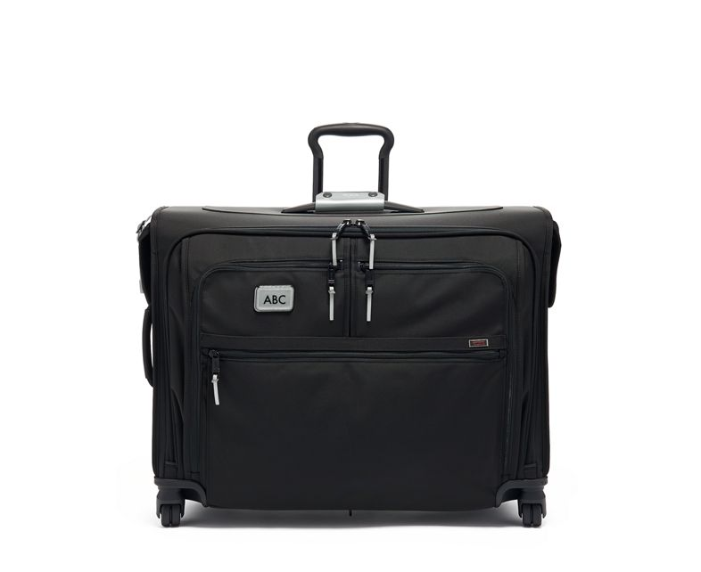 Medium Trip 4 Wheeled Garment Bag in Metallic Silver