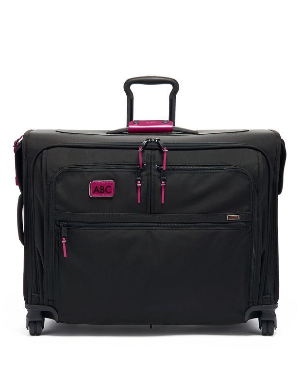 Medium Trip 4 Wheeled Garment Bag in Metallic Pink