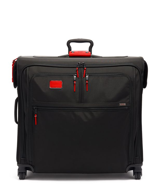 Extended Trip 4 Wheeled Garment Bag in Cherry