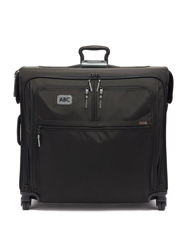 Extended Trip 4 Wheeled Garment Bag in Metallic Silver