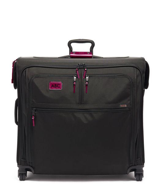 Extended Trip 4 Wheeled Garment Bag in Metallic Pink