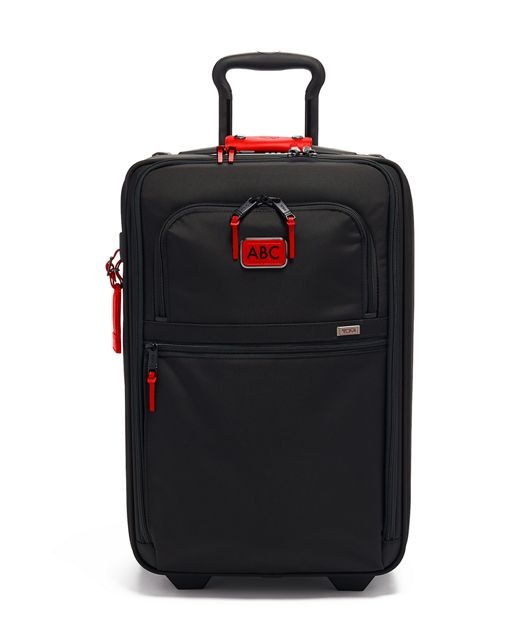 International Expandable 2 Wheeled Carry-On in Cherry