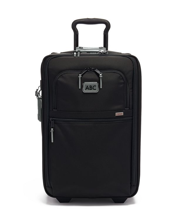 International Expandable 2 Wheeled Carry-On in Metallic Silver