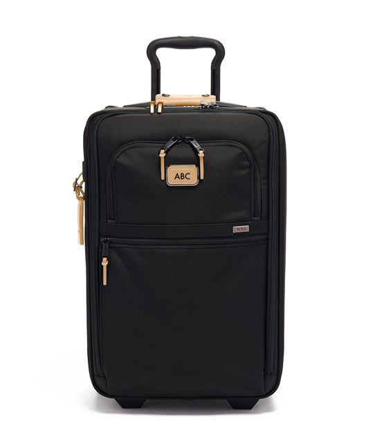 International Expandable 2 Wheeled Carry-On in Grey Highlands Print