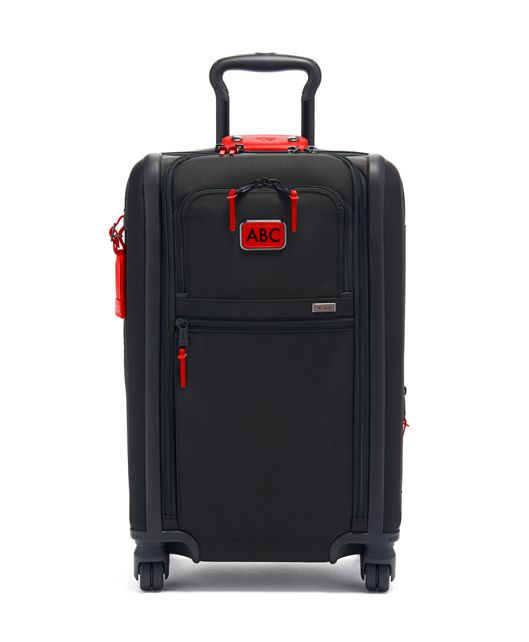 International Expandable 4 Wheeled Carry-On in Cherry