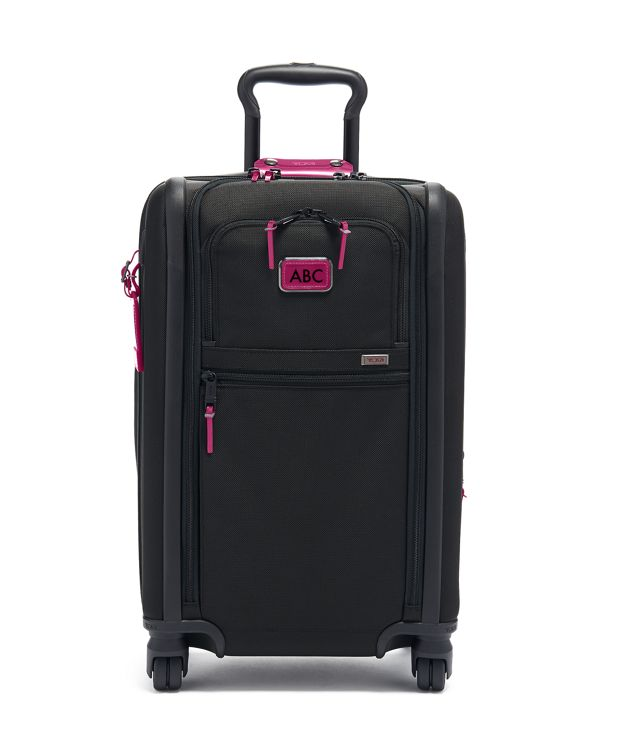 International Expandable 4 Wheeled Carry-On in Metallic Pink