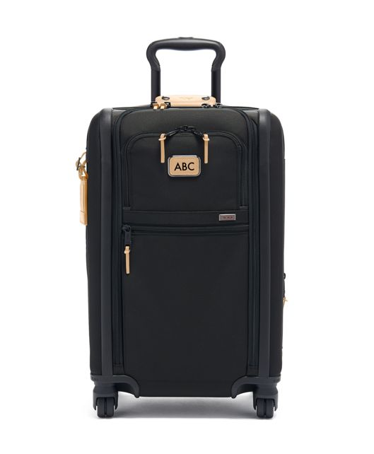 International Expandable 4 Wheeled Carry-On in Grey Highlands Print