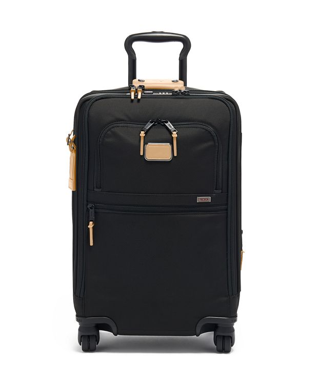 International Office 4 Wheeled Carry-On in Grey Highlands Print