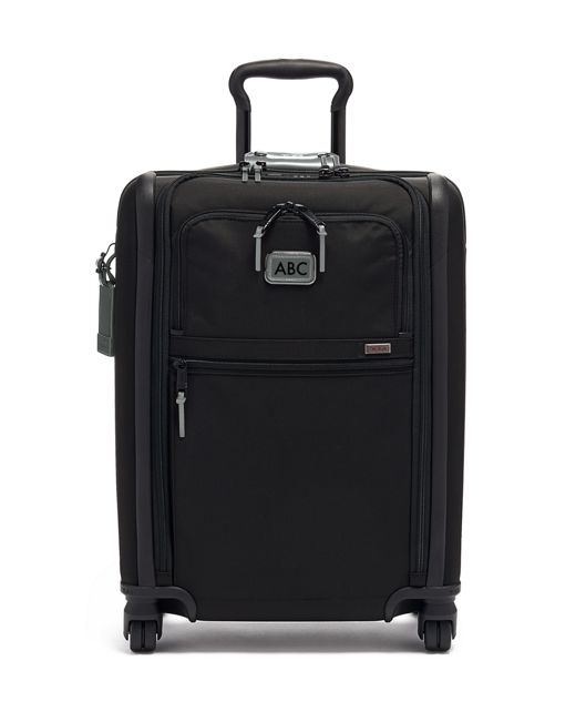 International Slim 4 Wheeled Carry-On in Metallic Silver