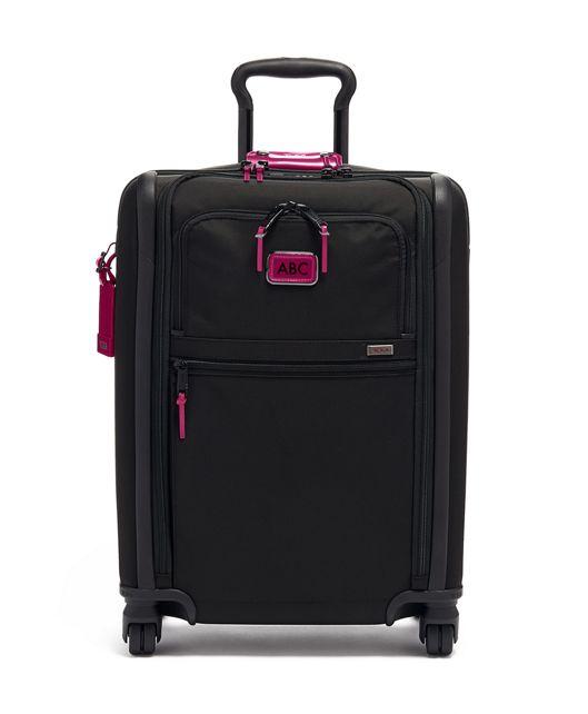 International Slim 4 Wheeled Carry-On in Metallic Pink