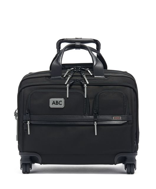 Deluxe 4 Wheeled Laptop Case Brief in Metallic Silver