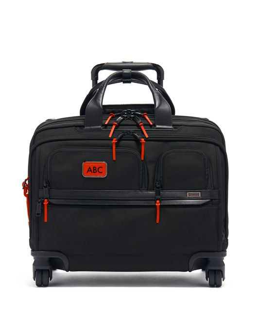 Deluxe 4 Wheeled Laptop Case Brief in Sunrise